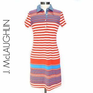 J. MCLAUGHLIN Polo Dress Highway Stripe